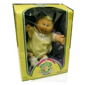 Vintage 1983 The Official Cabbage Patch Kids (キャベツパッチキッズ) Preemie Caucausian Blonde 青