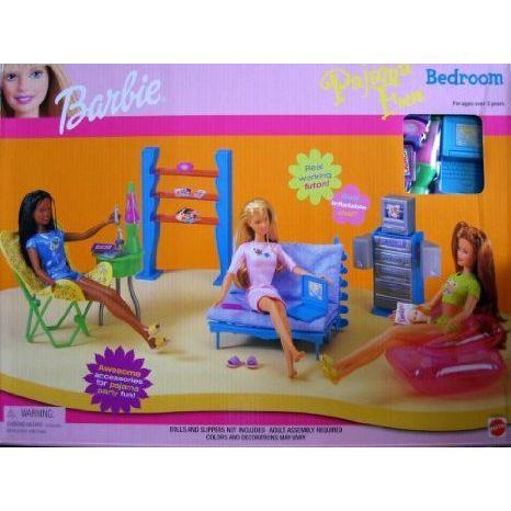 Barbie(バービー) PAJAMA FUN Bedroom Playset (1999) ドール 人形 フィギュア