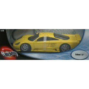 100% Hot Wheels (ホットウィール) 黄 Saleen S7 ダイキャスト ミニカー ダイキャスト 車 自動車 ミ