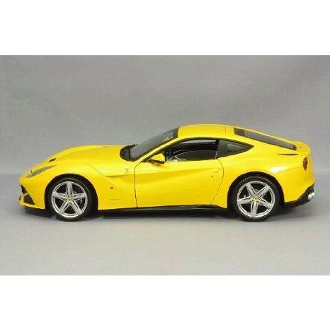 Ferrari (フェラーリ) F12 Berlinetta in 黄 in 1:18 スケール By Mattel (マテル) Elite ミニカー