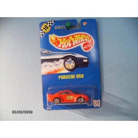 Hot Wheels (ホットウィール) Porsche (ポルシェ) 959 Collector # 80 赤 ,59 Tampo Wuh's ミニカー ダ