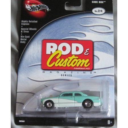 Hot Wheels (ホットウィール) Rod & Custom 2/4 Shoe Box TEAL 白い ミニカー ダイキャスト 車 自動車