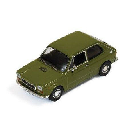 Ixo 1/43 スケール Prefinished Fully Detailed ダイキャスト Model, 1974 Seat 127 クーペ in Olive Gre