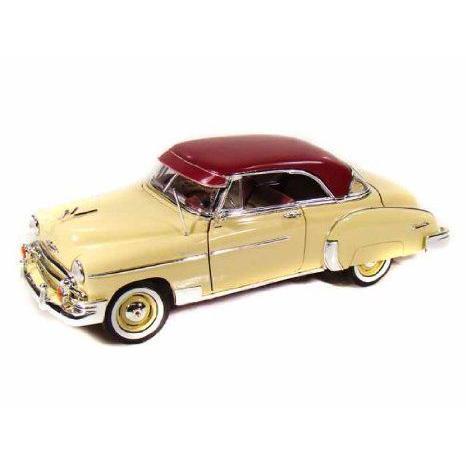 MotorMax 1950 Chevy (シボレー) Bel Air ダイキャスト 1:18 スケール Collectible モデルカー (黄)