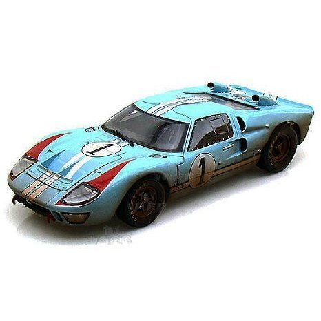 Shelby - Ford (フォード) GT-40 MK II Hard Top #1 w/ Dirt (1966, 1:18, Gulf 青 w/ 白い Stripes)