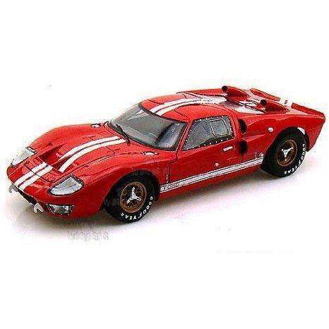 Shelby - Ford (フォード) GT-40 MK II Hard Top (1966, 1:18, 赤 w/ 白い Stripes) ミニカー ダイキャ