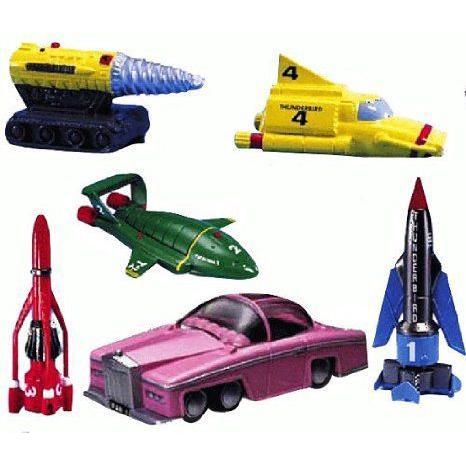 THUNDERBIRDS 6 Vehicle Super Set ミニカー ミニチュア 模型 プレイセット自動車 ダイキャスト