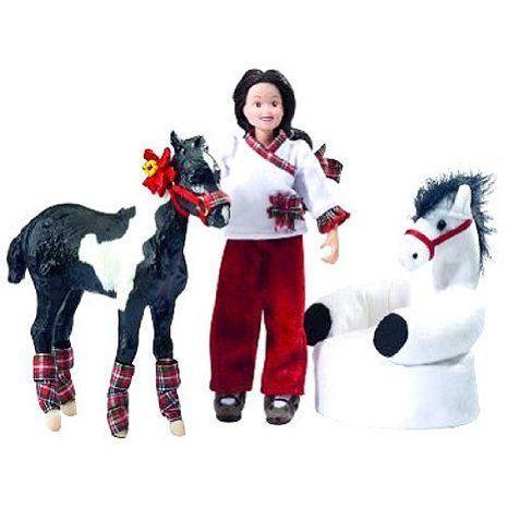Breyer Waiting For Santa Horse and Doll Set ドール 人形 フィギュア