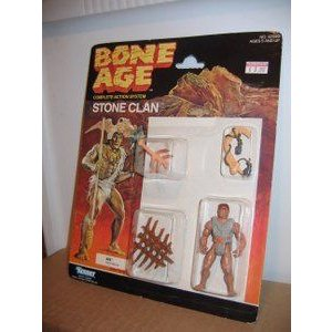 Bone Age Stone Clan Kos Mint on Card 1980's