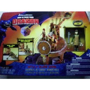 How To Train Your Dragon Movie Playset Battle & Collapse Catapult Includes Hiccup with Apron フィ