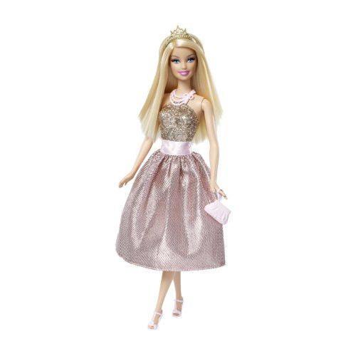 Barbie バービー Princess Doll - ピンク and ゴールド Dress 人形 ドール
