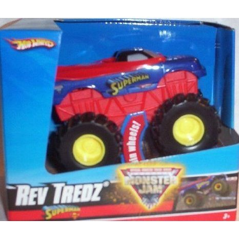 Hot Wheels (ホットウィール) Monster Jam SUPERMAN Rev T赤z Official Monster トラック Series 1:43