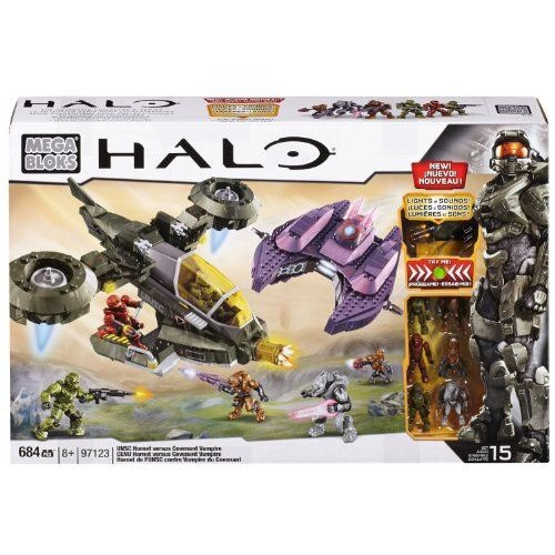 Mega Bloks メガブロック Halo ヘイロー UNSC Hornet vs Covenant Vampire
