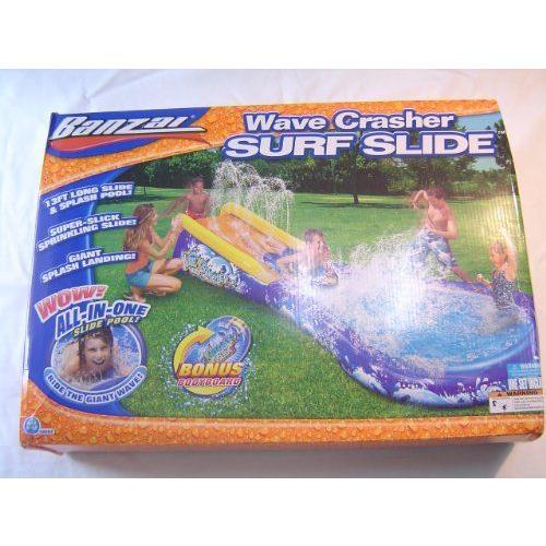 バンザイ【Banzai】Wave Crasherサーフスライドプール〜滑りと1つ ボディーボード付