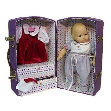 Canvas Doll Trunk Fits American Girls Bitty Baby 15