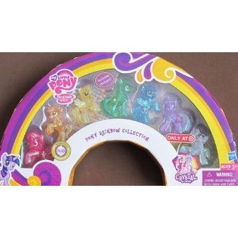 Crystal Empire MY LITTLE PONY RAINBOW COLLECTION w 7 PONIES & Stickers TARGET EXCLUSIVE (2012)