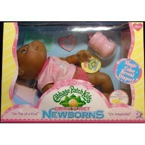Cabbage Patch Kids (キャベツパッチキッズ) Drink 'N Wet Newborns African American Bald Girl Doll ド