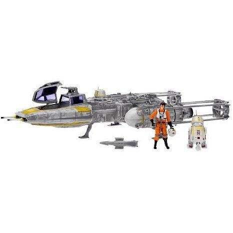 Star Wars (スターウォーズ) ゴールド Squadron Y-Wing Fighter With Pilot and Droid
