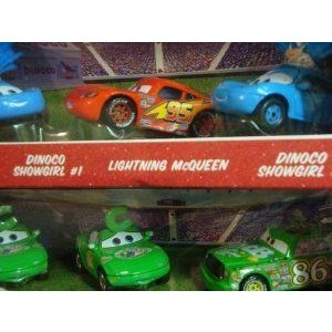 Disney (ディズニー) Pixar (ピクサー) Cars Showgirl #1, #2 With Lightning McQueen Chic Fan 1 & 2 Wi