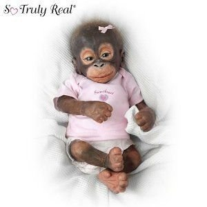 Wendy Dickison Little Umi Orangutan Doll: Collectible Monkey Doll by Ashton Drake ドール 人形 フィ