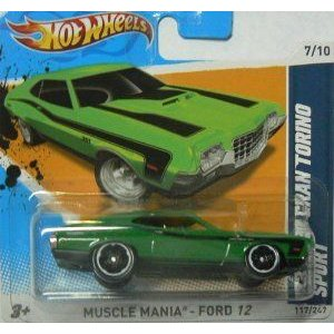 Hot Wheels (ホットウィール) Muscle Mania - Ford (フォード) 12 (7/10) '72 Ford (フォード) Gran Tori