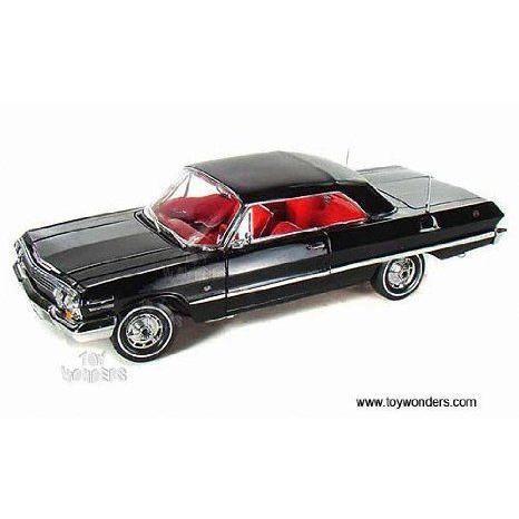 19865hbk Welly (ウィリー) - Chevrolet (シボレー) Impala Hard Top (1963, 1:18, 黒) 19865h ダイキ