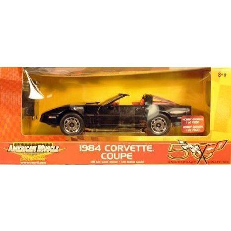American Muscle 1984 Corvette クーペ 50th Anniversary コレクション 1:18 スケール ダイキャスト ミニ
