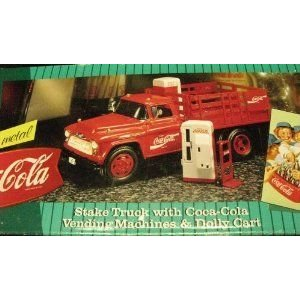 Coca Cola Stake トラックwith Vending Machines & Dolly Cart ダイキャスト Metal 1996 ミニカー ダイキ