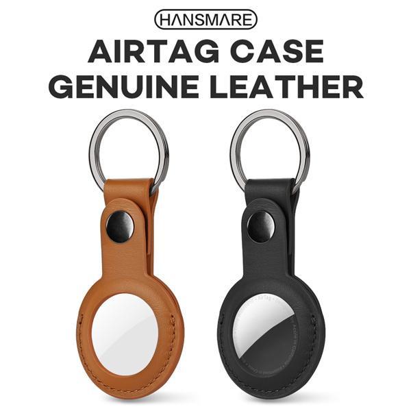 エアタグ ケース 革 Airtag ケース 本革 HANSARE カバー lether case アップル 強力マグネット ボタン BASIC 高品質 おしゃれ キーリング ネコポス vaniastore