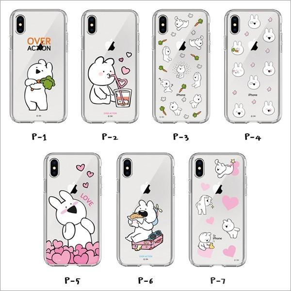 すこぶる動くウサギ 正規品 iPhone X  SE 第2世代/8 / 7  8+ 7+ 透明ケース クリアケース TPUケース ゼリーケース オーバーアクション ネコポス|vaniastore|02