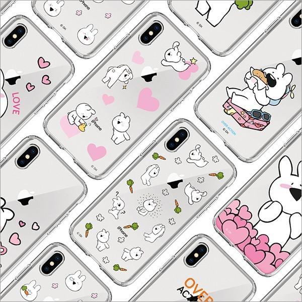 すこぶる動くウサギ 正規品 iPhone X  SE 第2世代/8 / 7  8+ 7+ 透明ケース クリアケース TPUケース ゼリーケース オーバーアクション ネコポス|vaniastore|05
