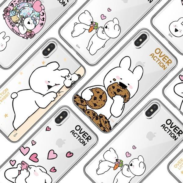 すこぶる動くウサギ 正規品 iPhone Xs Max ケース カバー クリア ソフト TPU  オーバーアクション Over Action Rabbit アイフォン ネコポス|vaniastore|06