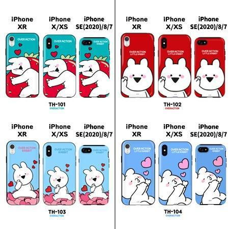 すこぶる動くウサギ 正規品 iPhone XR X/XS SE 第2世代/8/7 スマホケース 光沢 グロッシー ハードケース バンパーケース  韓国 ネコポス|vaniastore|02