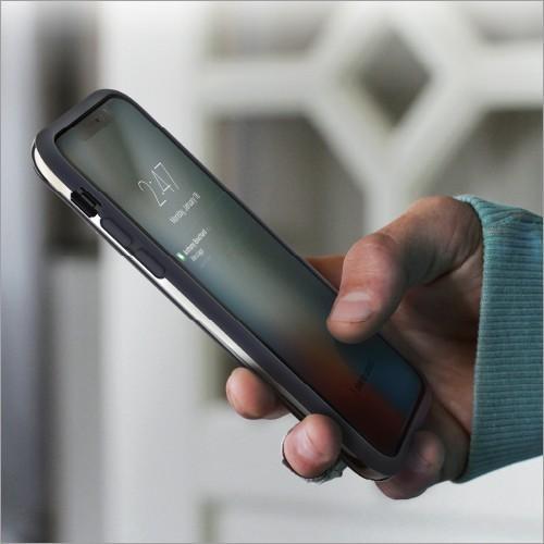 iPhone X / Xs / iPhone XR / iPhone Xs Max ケース INFINITY バンパーケース  スマホ カバー シンプル  ストラップホール ヘアライン加工 ネコポス|vaniastore|04