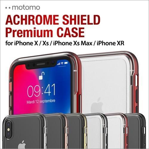 iPhone X / Xs / iPhone XR / iPhone Xs Max クリアケース ACHROME SHIELD Premium スマホケース アイフォン カバー バンパー  ネコポス無料|vaniastore