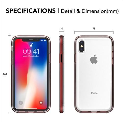 iPhone X / Xs / iPhone XR / iPhone Xs Max クリアケース ACHROME SHIELD Premium スマホケース アイフォン カバー バンパー  ネコポス無料|vaniastore|07