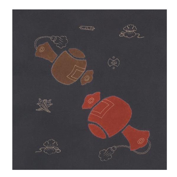 都内で 宮井 ふろしき 絹75cm幅 打出の小槌 鼠 11-5425-05 ギフト 風呂敷 かわいい, グジョウシ 44f19df1