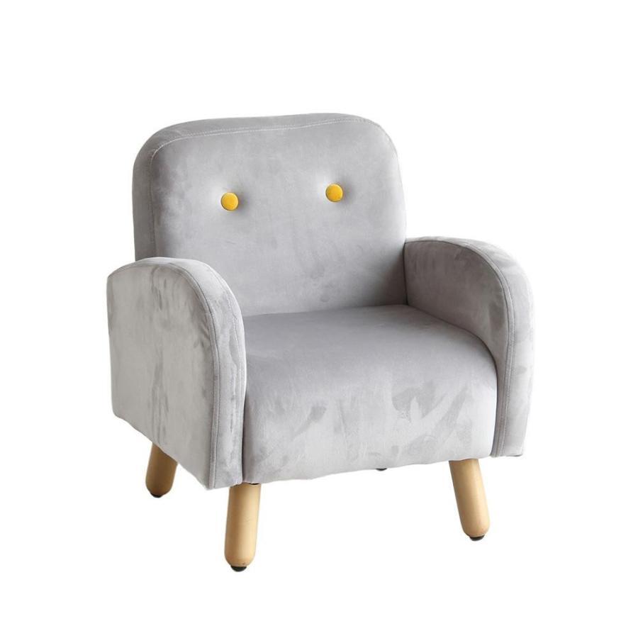 (同梱不可)キッズパーソナルソファ グレー HLI-5005GY キッズソファー 椅子 かわいい