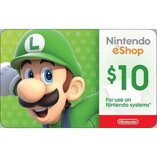 北米版(米国版) Nintendo eShop カード $10|varicaide