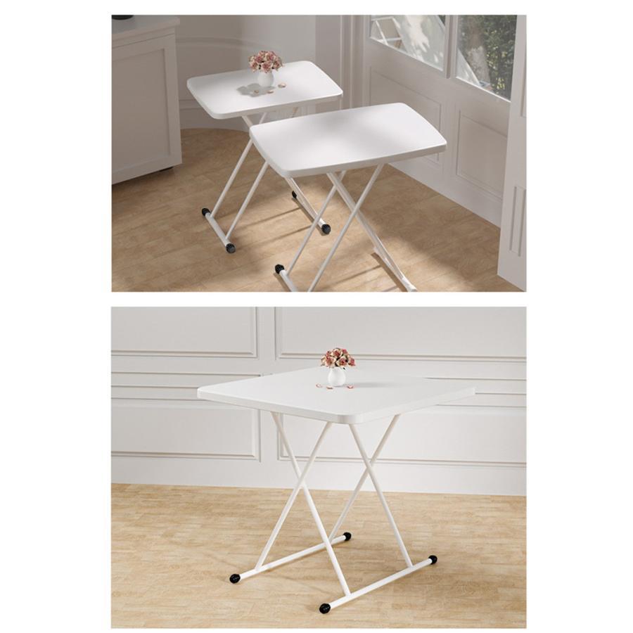 折りたたみテーブル サイドテーブル 高さ6段階調節 幅76cm 折りたたみ 昇降式 テーブル パソコンテーブル リビングテーブル 白 おしゃれ コンパクト 在宅ワーク vastmart 17