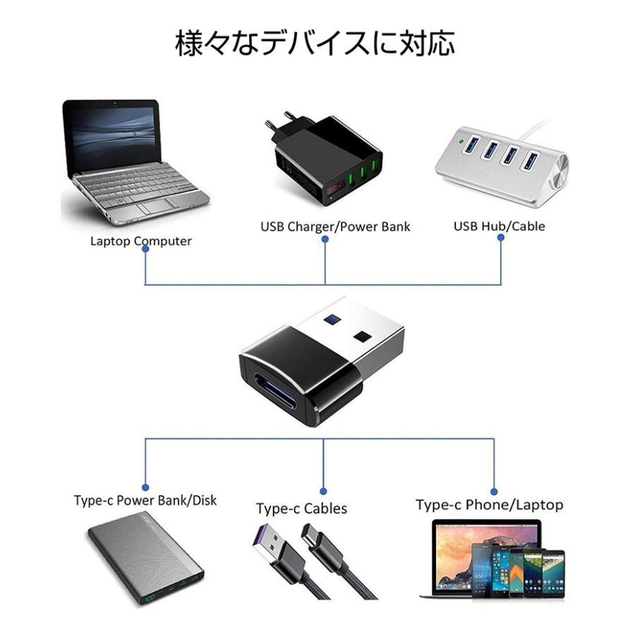 USB to Type-C 変換アダプター 変換アダプタ  usb type-c 変換アダプタ  急速充電 データ転送 usb2.0 アダプター 小型 軽量|vastmart|11
