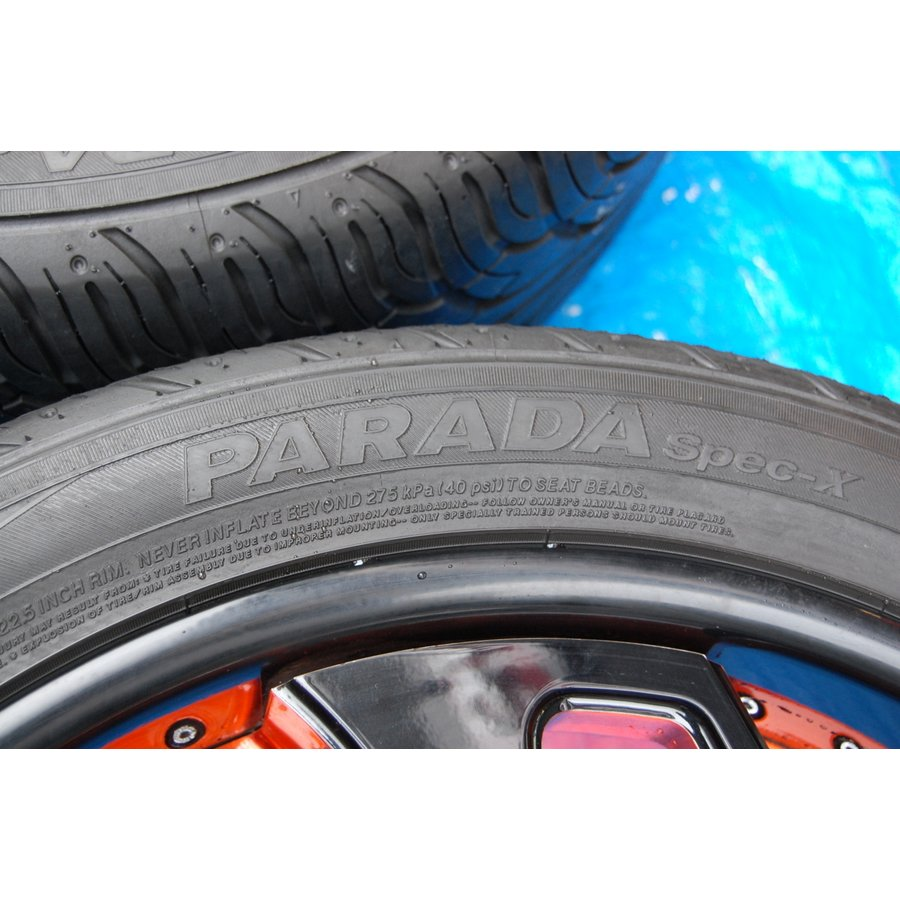 中古 VELLANO VJK 22インチ アルミホイール 4本 セット タイヤ 付き ヨコハマ PARADA Spec-x 305/40/22 ベラーノ TOYOTA ランドクルーザー ve1 04