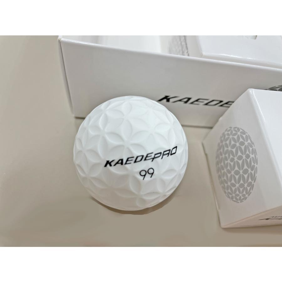 KAEDE(カエデ) ゴルフボール PRO ホワイト 1ダース(12個入り) ビークルワン|ve1|02