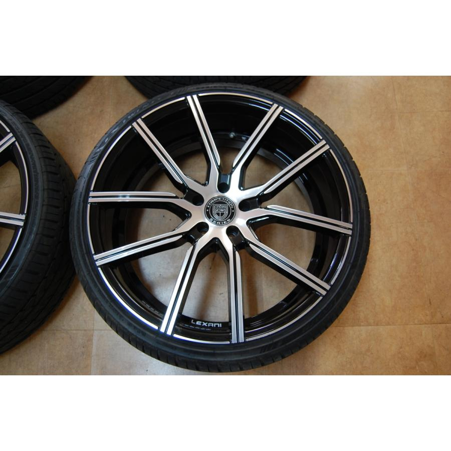中古 レクサーニ 22インチ ホイール タイヤ セット 4本 マセラティ グランカブリオ LEXANI GRAVITY 9J 10J 114.3 ve1 02