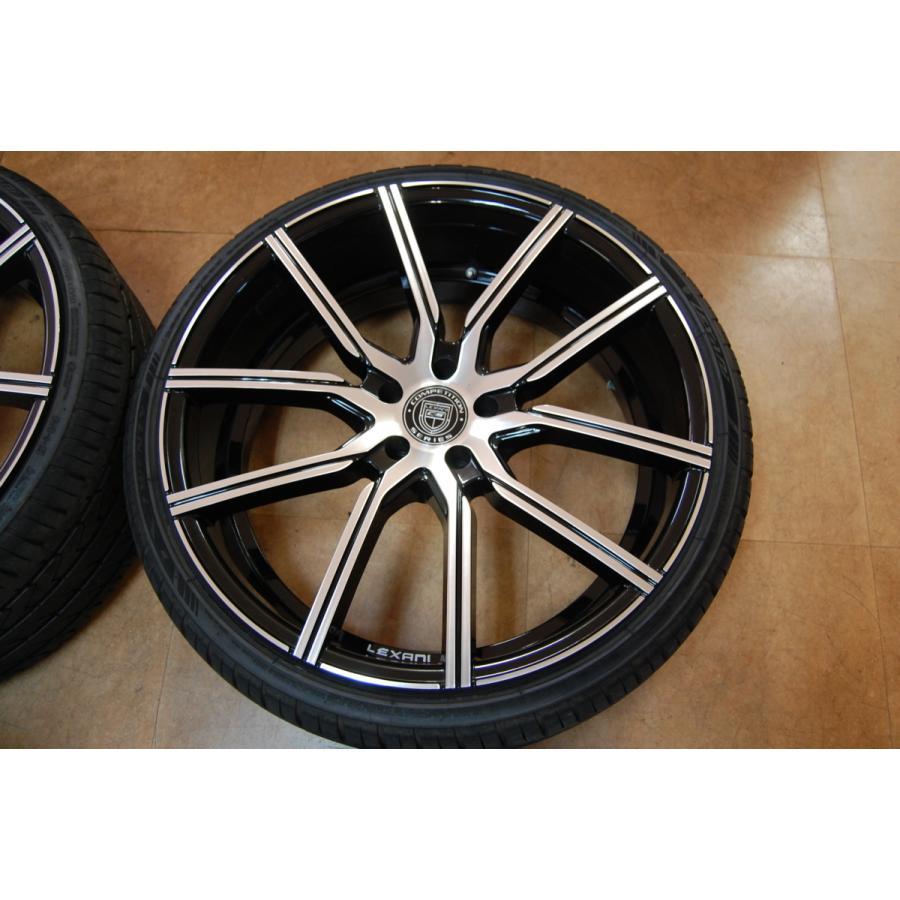 中古 レクサーニ 22インチ ホイール タイヤ セット 4本 マセラティ グランカブリオ LEXANI GRAVITY 9J 10J 114.3 ve1 03