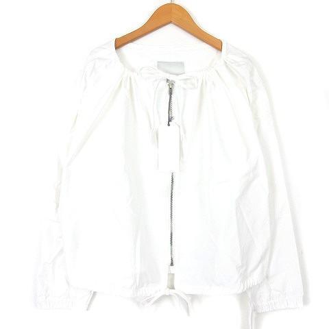 【超安い】 未使用品 アンユーズド UNUSED 17AW ZIP SHIRT JACKET US1353 シャツジャケット ジップ 白 ホワイト 0 メンズ/レ, 新しいエルメス 92d577e3