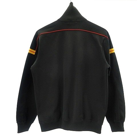 【中古】アシックス asics 美品 80's ヴィンテージ Recorder トラックジャケット ジャージ ジップアップ 日本製 ブラック 黒 イエロー 黄 レッド 赤 vectorpremium 02