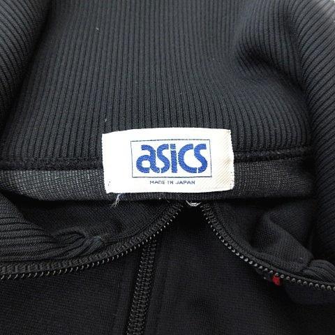 【中古】アシックス asics 美品 80's ヴィンテージ Recorder トラックジャケット ジャージ ジップアップ 日本製 ブラック 黒 イエロー 黄 レッド 赤 vectorpremium 03