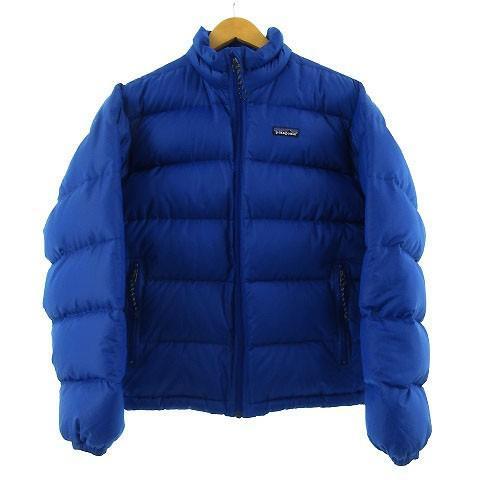 【中古】パタゴニア Patagonia ダウンジャケット 84600 ホワイトグース羽毛 ブルー 青 S メンズ 【ベクトル 古着】