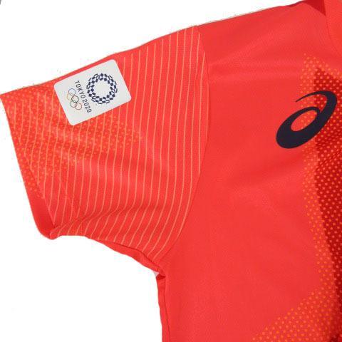 【中古】アシックス asics Tシャツ 半袖 丸首 総柄 オリンピック 2020 オレンジ M メンズ 【ベクトル 古着】|vectorpremium|02